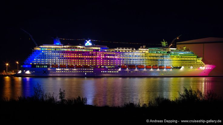 Colorfull Reflection - 209A0020 - Cruise Ships from Papenburg / Germany by Andreas Depping