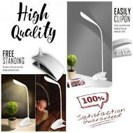 Floor Desk Lamp Nightstand Table LED Light Touch Adjustable Clamp FREE Standing!