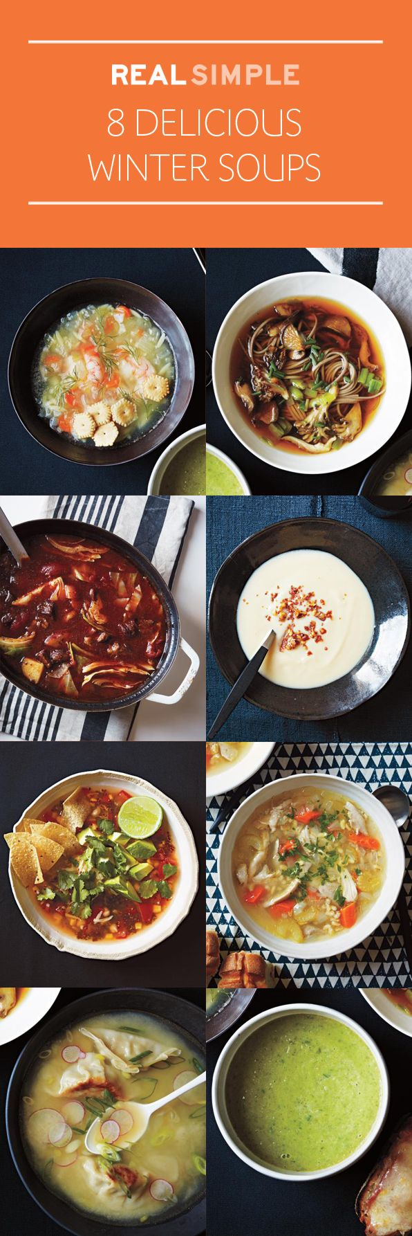 On what feels like a never-ending quest for a seasonal meal to please all palates? Look no further than these eight soup recipes: simple, surprising, delicious.