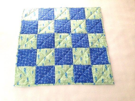 Hey, I found this really awesome Etsy listing at https://www.etsy.com/listing/162808526/baby-seahorse-quilt-blue-and-green-quilt
