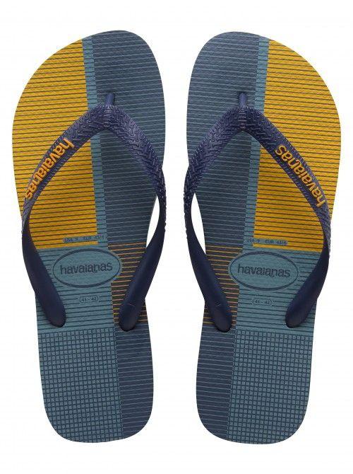 Havaianas NAVY BLUE Plaid Men's Flip Flops / Thongs / Beach Sandals Size 12