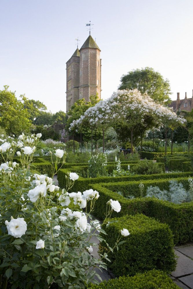 White Garden, Sissinghurst Castle, Kent, UK - National Trust Treasure Hunt