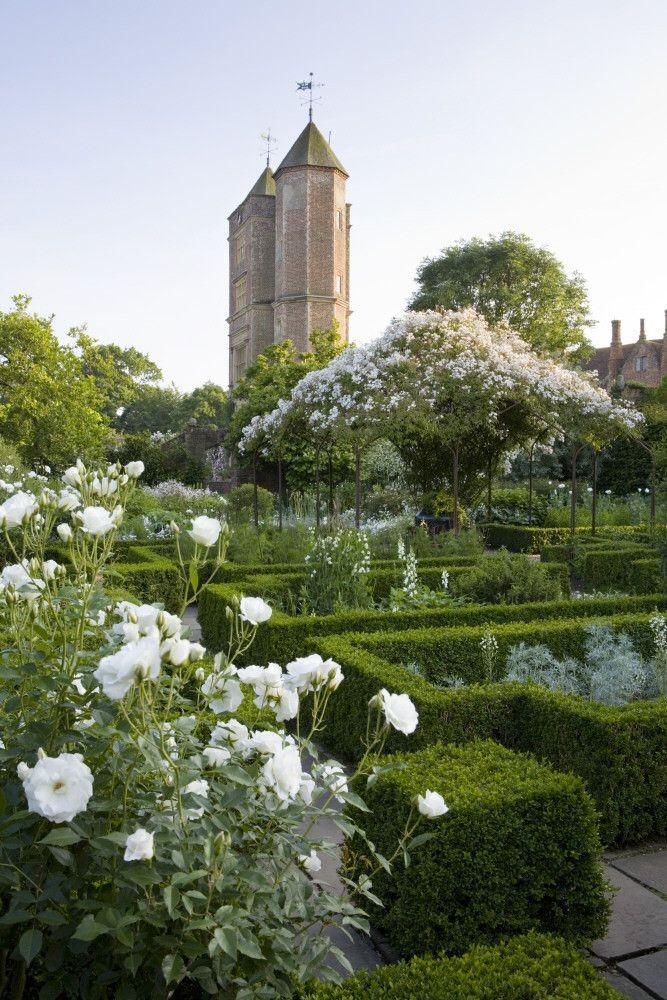 White Garden, Sissinghurst Castle, Kent, UK - National Trust Treasure Hunt