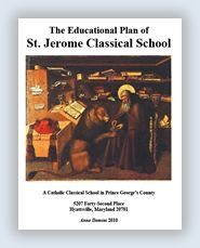 "St Jerome's Classical Catholic School book lists by grade. Book lists found in ""Part IV- materials "" of the document.  http://www.stjeromes.org/education/parish-school"