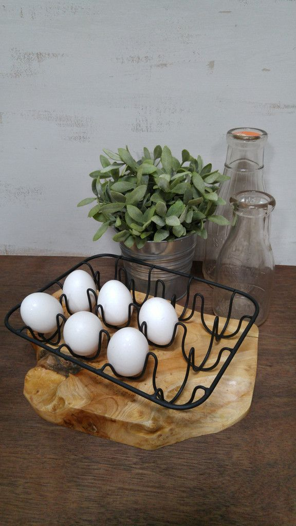 Countertop Egg Holder : wire egg holder egg basket egg holder forward this decorative wire egg ...