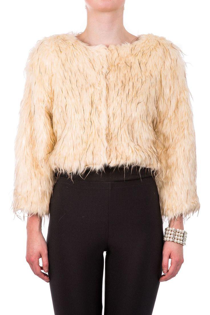 Hidden Fashion Womens Ladies Faux Feather Fur Bolero Jacket: Amazon.co.uk: Clothing