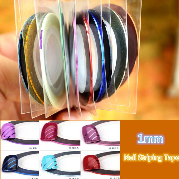 Retail 10 Popular  1mm Nail Striping Tape Line For Nails Decorations Diy Nail Art Self-Adhesive Decal Tools NC124