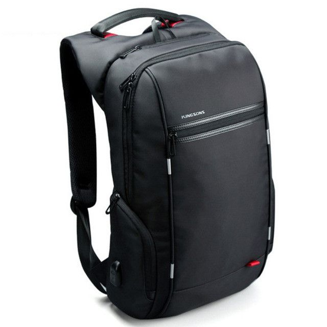 Kingsons Brand Notebook Backpack 15.6 Inch Waterproof Laptop Backpack For Men Women External USB Charge Computer Antitheft Bag