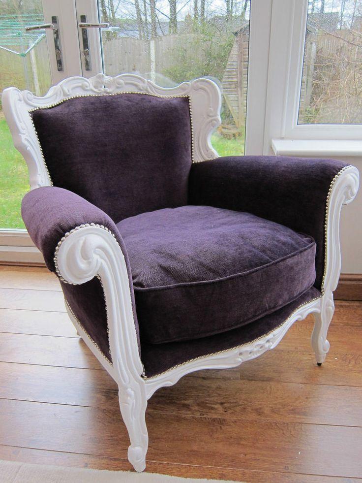 ORIGINAL ANTIQUE - French rococo chair / Italian vintage Baroque throne armchair