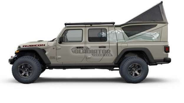 2020 Jeep Gladiator Rendered With All Sorts Of Bed Toppers Jeep Gladiator Jeep Jeep Truck