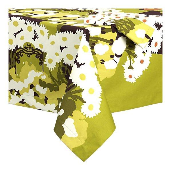Marimekko table cloth to brighten up house for summer.