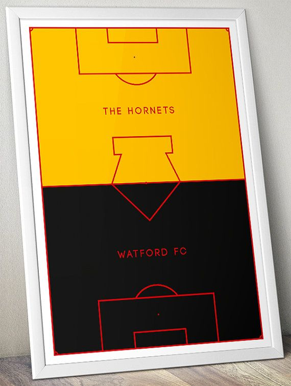 Watford FC Pitch Perfect Poster https://www.etsy.com/uk/listing/245909212/watford-fc-the-hornets-pitch-perfect