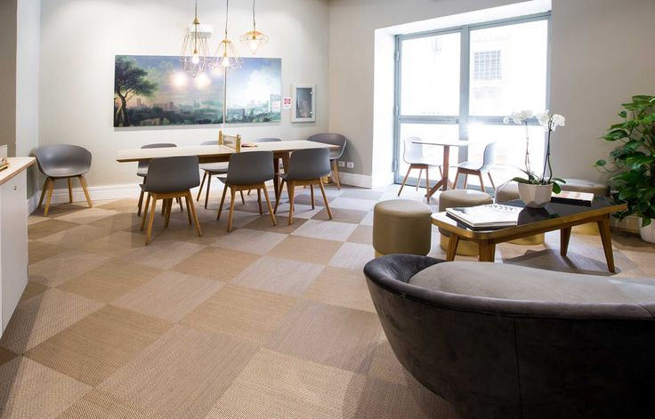 Bolon flooring in the Accademia Hotel in Rome, Italy