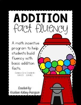 Motivate students in developing addition fact fluency. Included: - individual gumball machines for tracking student's progress - test sheets for each set of addition facts - flashcard set for each set of addition facts - brag tags (color and printer friendly) - practice sheets to be laminated or