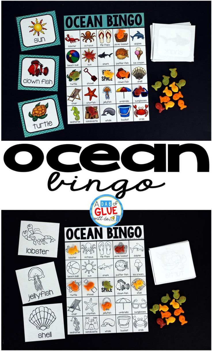 Water and ice activities summer camp at home with 12 weeks of easy - Ocean Bingo Is A Fun Way To Review Learning About The Ocean This Is Also