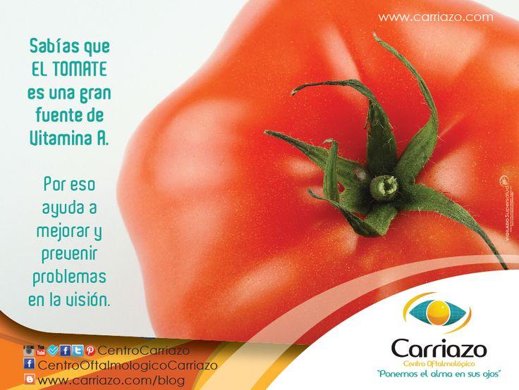 La VITAMINA A genera los pigmentos necesarios para el funcionamiento de la retina y desempeña un papel importante en el desarrollo de una buena visión. La falta de Vitamina A puede provocar disminución de la agudeza visual, sequedad de la conjuntiva, inflamación de los párpados y ulceraciones en la córnea.  También la puedes encontrar en la zanahoria, la espinaca, la yema de huevo, el hígado, las verduras y los lácteos.  #SaludVisual #CuidaTusOjos  www.carriazo.com