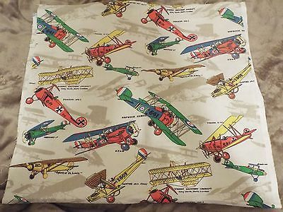 Military Antique Airplane Vintage Planes Jet Aviation Boy Cotton Quilt Fabric
