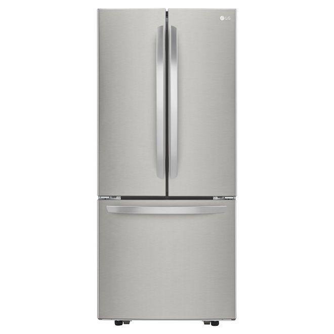 Réfrigérateur à portes françaises 21,8 pi³, inox