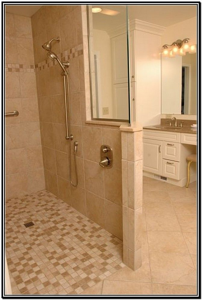 tile showers without doors tile walk in showers without doors - Walk In Shower Tile Design Ideas