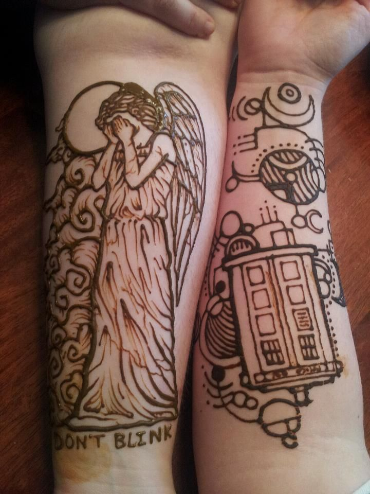 Doctor Who henna some of the only who tattoos i've liked