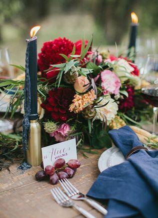 Свадебная палитра: густой темно-синий цвет и роскошь золота - The-wedding.ru