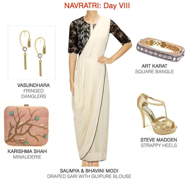 Monochromes in a modern Indian avatar. #fashion #festive #ootd #style #lookbook #womenswear