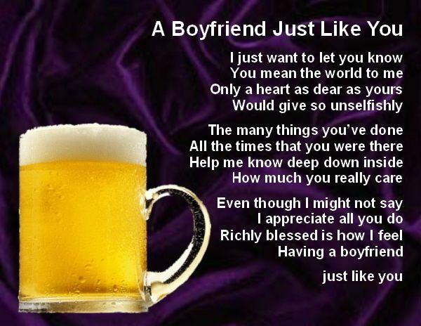 Personalised Fridge Magnet -  Boyfriend  Poem + Gift Box  -  Various Designs