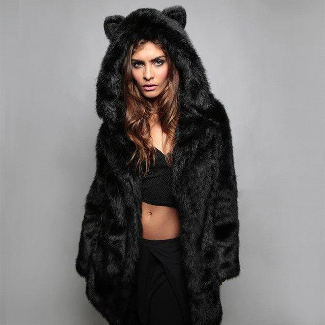 17 Best ideas about Black Faux Fur Coat on Pinterest | Faux fur ...