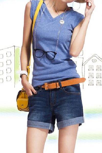 Добавить удобрения для увеличения кода жира ММ джинсовые шорты женские летние свободные широкие брюки ноги шорты студентов растянуть тонкие 200 фунтов
