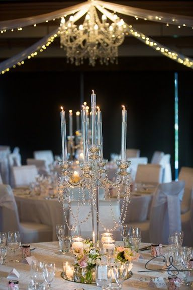 49 best candle table centerpiece ideas images on pinterest for Wedding reception centrepieces