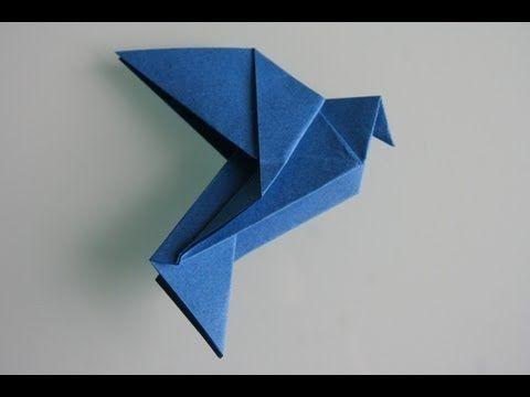Origami Taube (Dove): Faltanleitung (Live erklärt) - YouTube