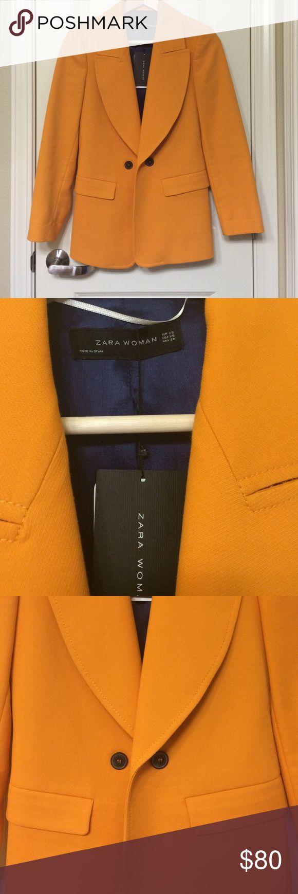 Zara Blazer SALE TODAY ONLY! SALE FOR TODAY!!! Zara woman orange blazer. Brand new with tags. Zara Jackets & Coats Blazers