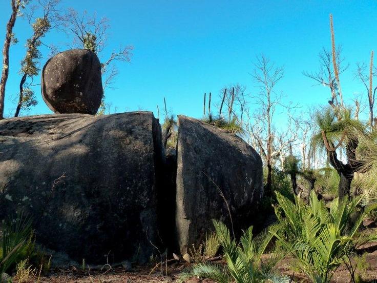 Granite boulder at White Horse Hills