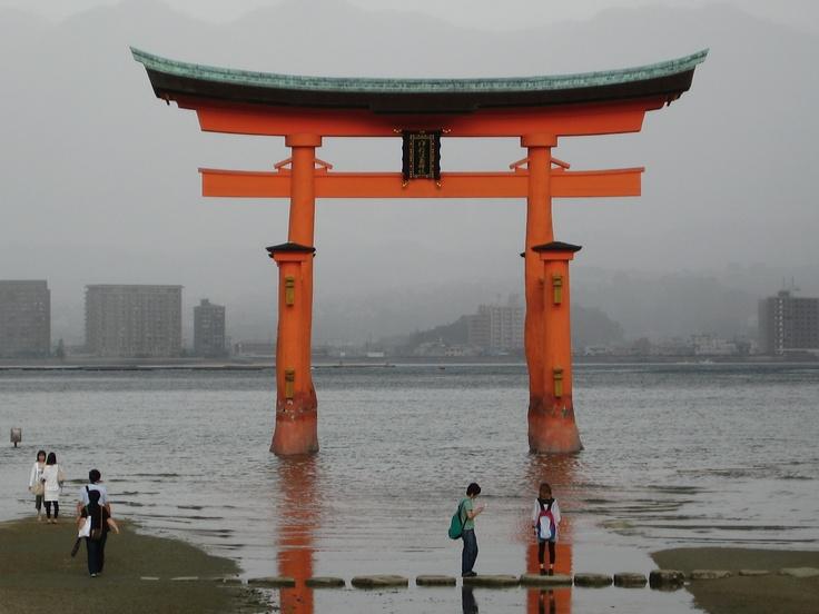 Miyajima - Tori gate. #japan #gate