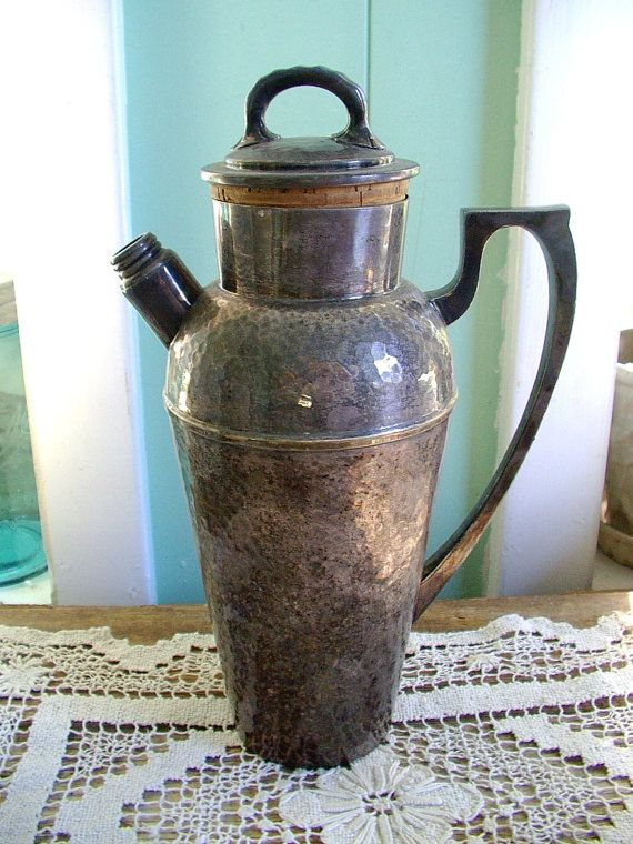 vintage 1920's Craftsman style carafe hammered by OurVintageHouse, $30.00