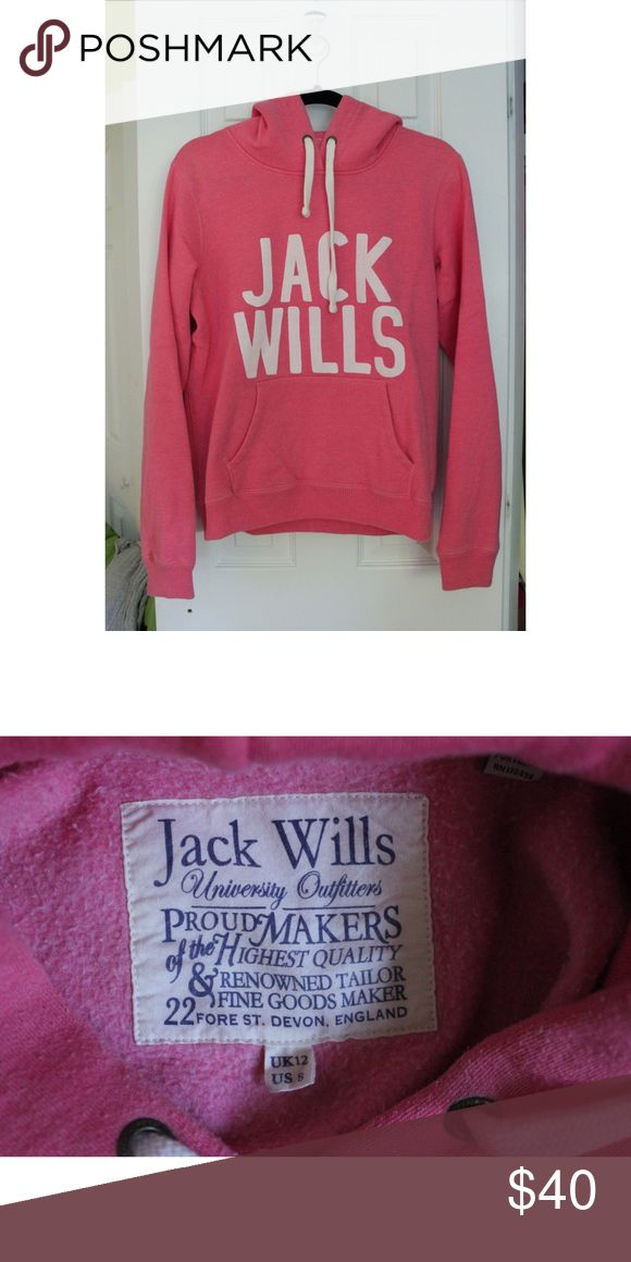 Jack Wills pink sweatshirt Size 8 in women's, but fits like a Small would. Bought at a Jack Wills store in Massachusetts. Worn a handful of times Jack Wills Tops Sweatshirts & Hoodies