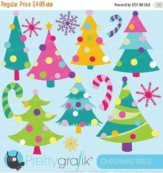 Buy 20 Get 10 Off Christmas Trees Clipart Commercial Use Etsy In 2020 Christmas Tree Clipart Christmas Clipart Black Friday Christmas Tree