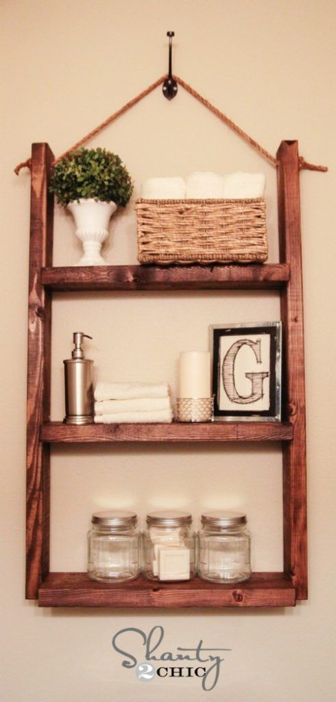 Chic DIY Rustic Shelves to Embed in Your Home Decor