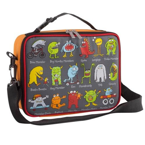 Monsters Design Kids Insulated Lunch Bag With Strap