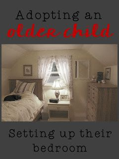 creating a bedroom for an adopted older child from US foster care