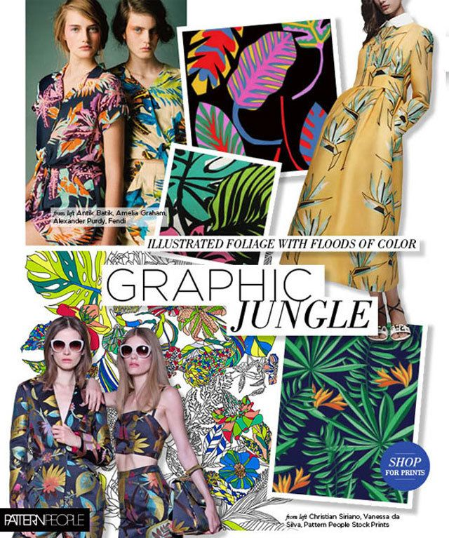 #PatternPeople SS17 trend preview, Graphic Jungle, on #WeConnectFashion