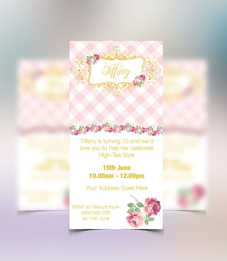 These Vintage Birthday Invitations form part of a package available from www.concept-designs.com.au. Email us today for the package to suit your next girl vintage birthday party (info@concept-designs.com.au).