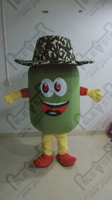 The cowboy peppers cartoon mascot costume #Affiliate
