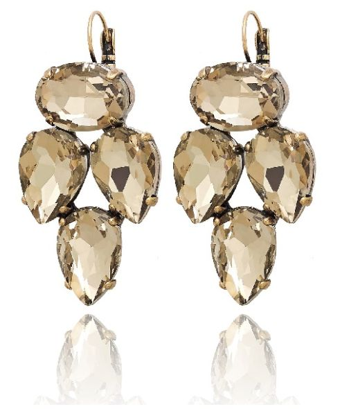 Voila Gold Earrings available at www.stellanemiro.com