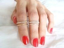 CZ knokkel Ring, Silber, Verstelbare ring