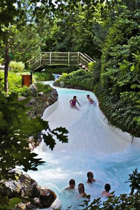 Cool runnings: the outdoor wild water rapids take riders down dips and dives