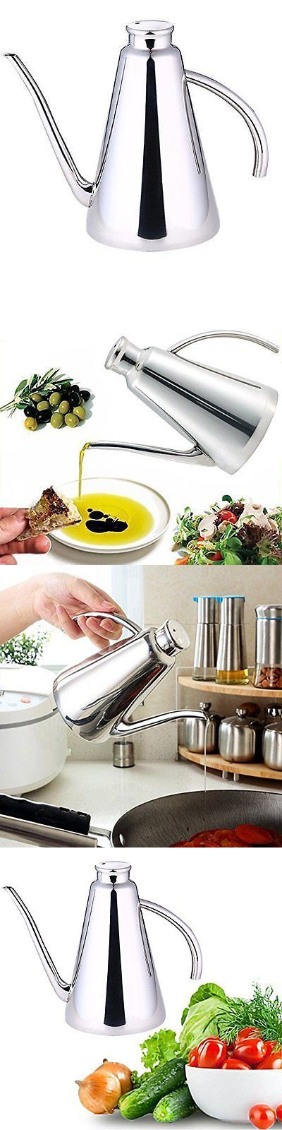 Oil and Vinegar Dispensers 54122: Amfocus Stainless Steel Olive Oil Can Drizzler Pot With Drip-Free Spout, 15 Oz -> BUY IT NOW ONLY: $39.44 on eBay!