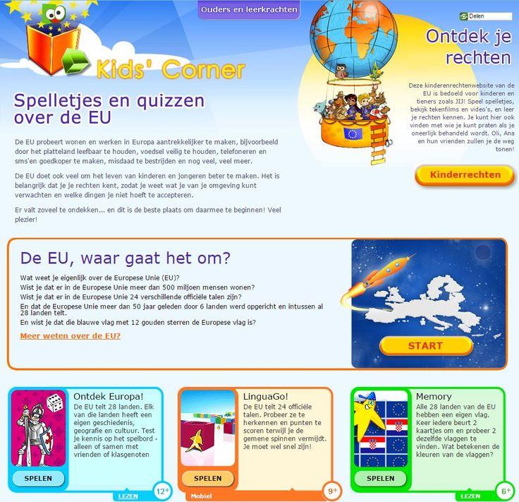 Spelletjes en quizzen over Europese onderwerpen. Voor kinderen in de leeftijd van 6+, 9+ en 12+