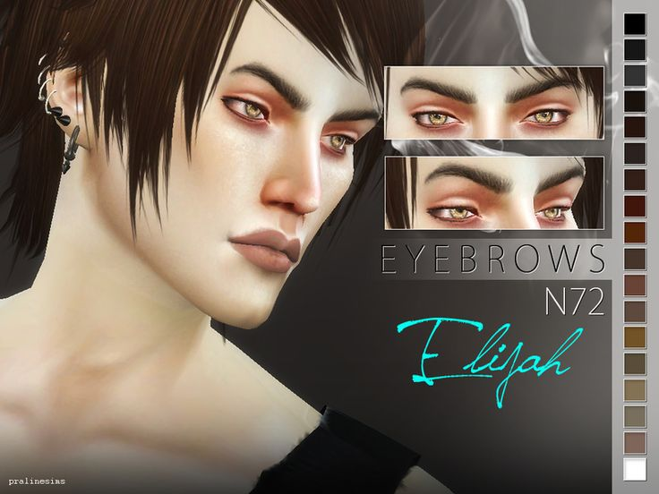 Eyebrows in 18 colors, for all ages and genders.  Found in TSR Category 'Sims 4 Facial Hair'