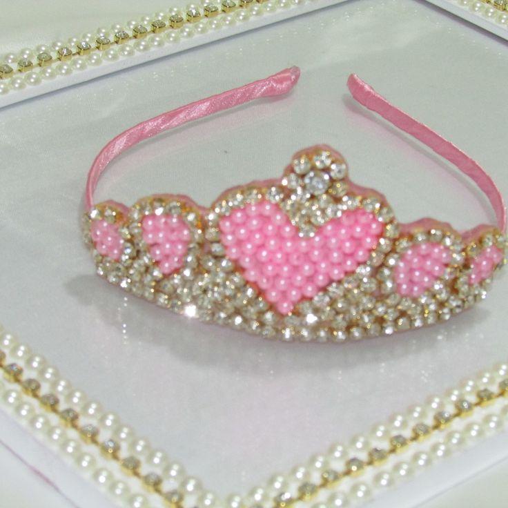 Coroa coração princesas !!! | Jujuba Tiaras e Acessórios Infantis | Elo7